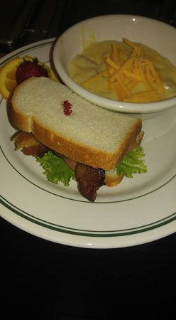 Tazewell, TN: BLT and there Cheddar Potato soup is out of this world....