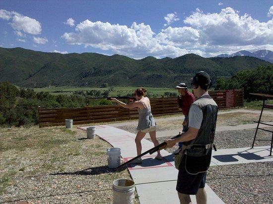 Professional instruction on shotgun safety, firing, game