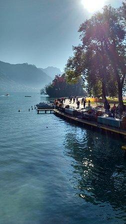Pont des Amours: el lago