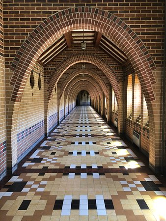 Saint Benedict Abbey: Hallways with different styles