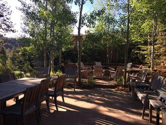 Green Mountain Falls, CO: Outdoor patio area