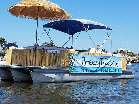 Breezy Tiki Party Boat