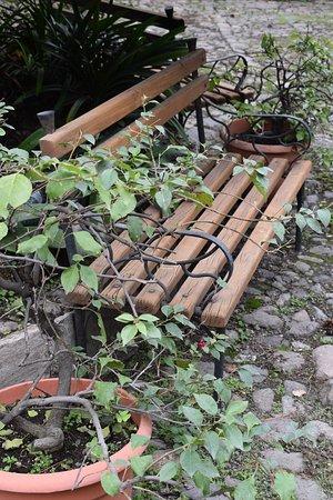 Hotel Posada de Don Rodrigo: Courtyard Bench