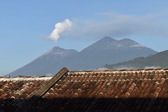 Hotel Posada de Don Rodrigo: Active volcano in the distance,