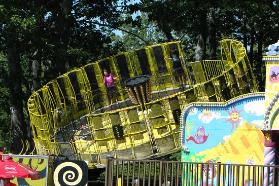 York's Wild Kingdom Zoo and Fun Park : One of the fairground rides