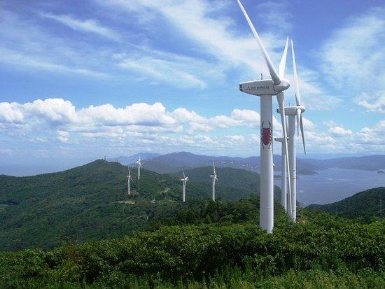 Ikata-cho, Japón: 風車が続きます~