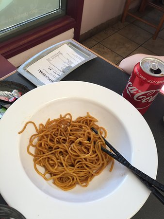 Murasaki Japanese Restaurant: My daughter loves fried noodles. They said would be available. I asked nothing on it and they di