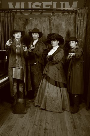 Another gang visits the past !!! everyone has fun at Theme Photography Mt Morgan Store Glenrowan