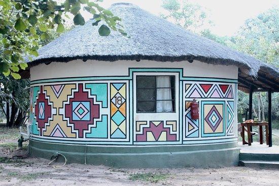 Timbavati Safari Lodge: Rondaveel waarin wij verblijf hadden