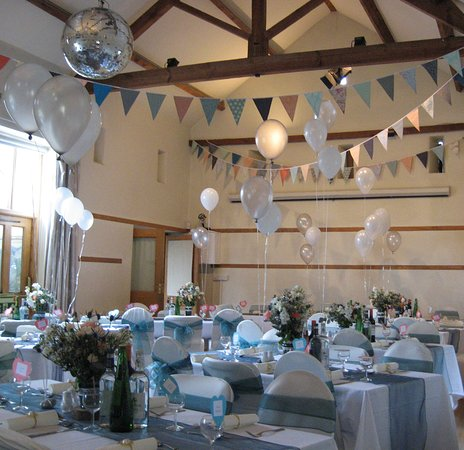 Bleddfa, UK: Hall Barn can be hired for private events; this was a beautiful June wedding reception