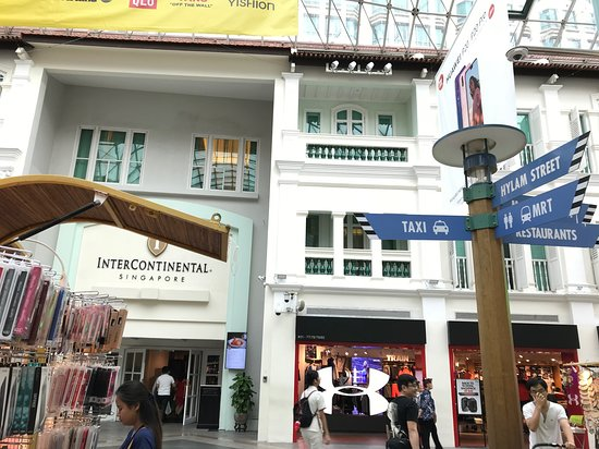 Hotel's side entrance/exit from Bugis Junction Shopping