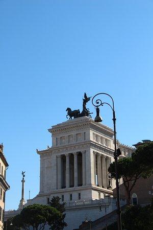 Roma Dal Cielo Terrazza Delle Quadrighe Roma Italia Foto