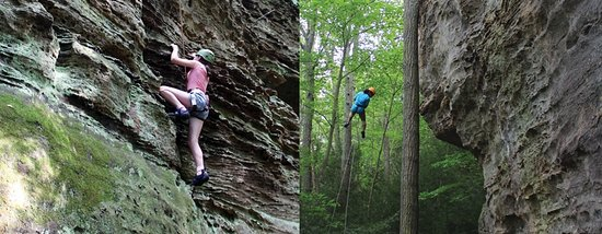Rockbridge, OH: Climb and Rappel, what a great combo, or Rock Challenge and Rappel. Adventure is here. Nature Ro