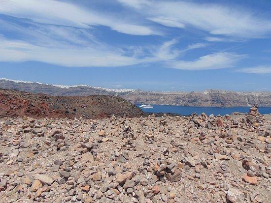 Santorini Volcano: Вид с вершины на Фиру