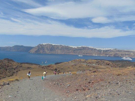 Santorini Volcano: Спуск с вершины