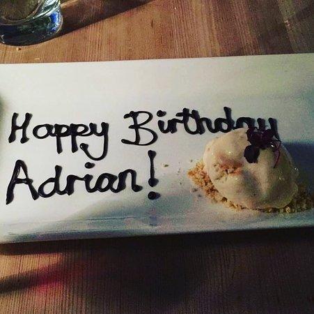 Lurgashall, UK: A surprise Birthday Dessert