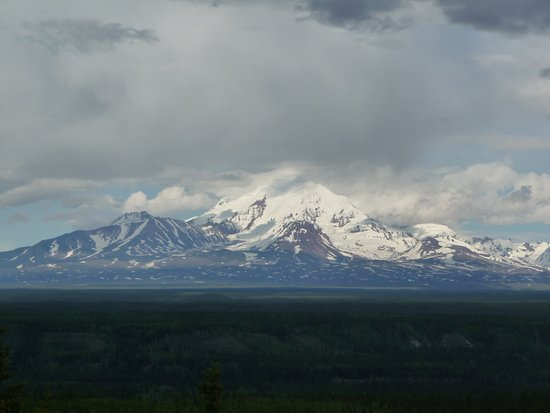 Wrangell-St Elias National Park and Preserve, AK: View from behind the lodge
