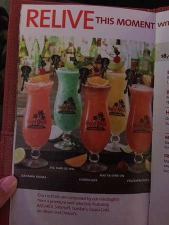 Hard Rock Cafe Tenerife: carta