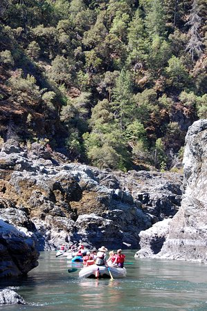 Rogue River, OR: Exiting Mule Creek Canyon in a paddle boat
