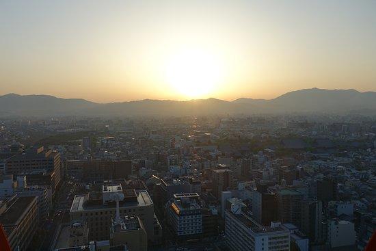 Kyoto Tower: Coucher de soleil depuis la tour