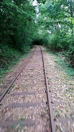 Bagnoles-de-l'Orne, Francia: Velo-rail Des Andaines