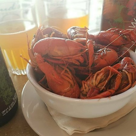 Bud and Rob's Downtown, A New Orleans Bistro: Seasonal Offering of Boiled Crawfish (a Springtime treat)