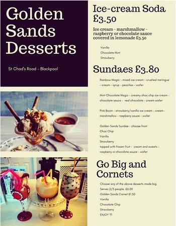 Golden Sands Hotel: Golden Sands Blackpool Dessert Menu