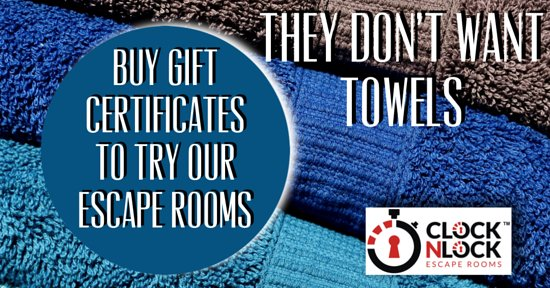 You can purchase gift certificates online at our website, much cooler than a set of towels!