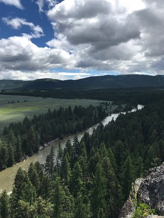 The Resort at Paws Up: View (from the rappling rock) of the Blackfoot River.