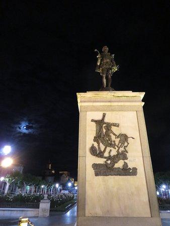 Plaza de Cervantes: Look for Cervantes-themed art all over town!