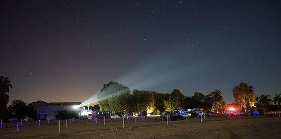 Ayr, Australia: Projector to the screen 130 meters