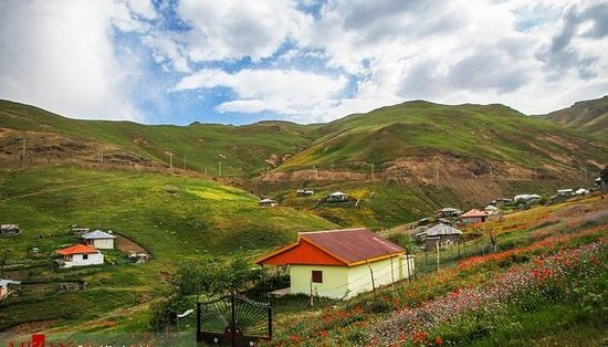 Gilan Province, Iran: The bucolic wonderful Asalem to Khalkhal Road is located in northwest Iran.