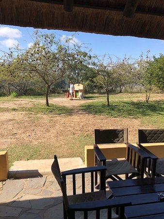 Hluhluwe Game Reserve, South Africa: verandah of no. 18 - great braai area