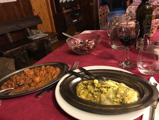 Breguzzo, Italy: Frittata di corte e fagioli