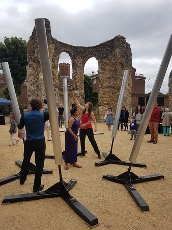 Reading Abbey Ruins: Sound installation, Call of the Bells,  at the reopening of Reading Abbey on 16 June