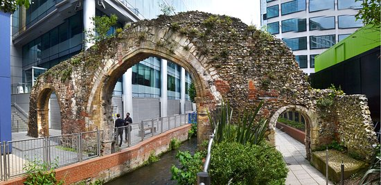 The Mill Arch, part of Reading Abbey ruins.