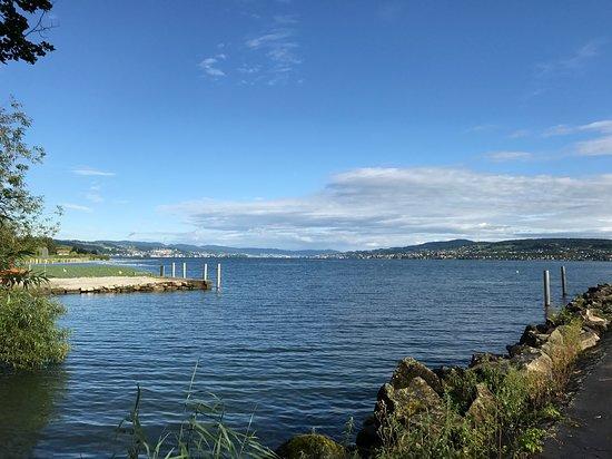 Pfaeffikon, Switzerland: View on a sunny day, towards Zurich