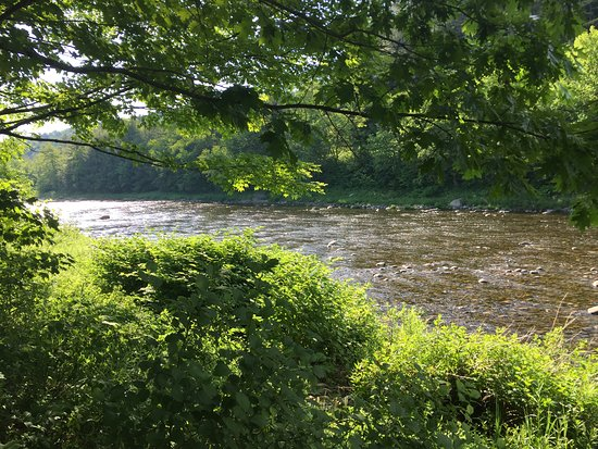 Lisbon, NH: River along edge of campground