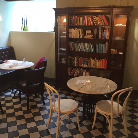 Lewis Book Cafe - High Tea Bar: Downstairs decoration