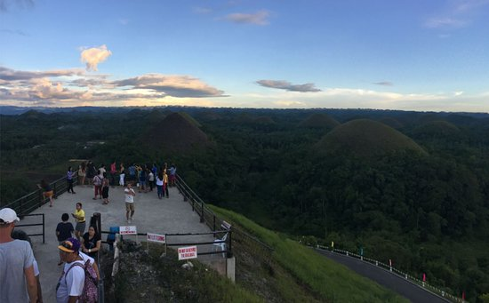 Chocolate Hills: From top platform