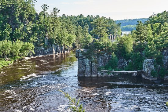 Interstate State Park- Wisconsin: St. Croix River view from the Potholes