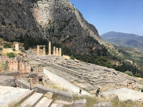 Looking down on the Temple of Apollo
