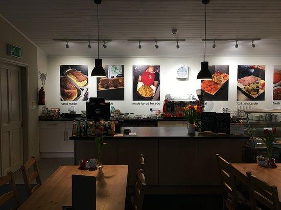 Glenbarr, UK: Story Boards in Cafe