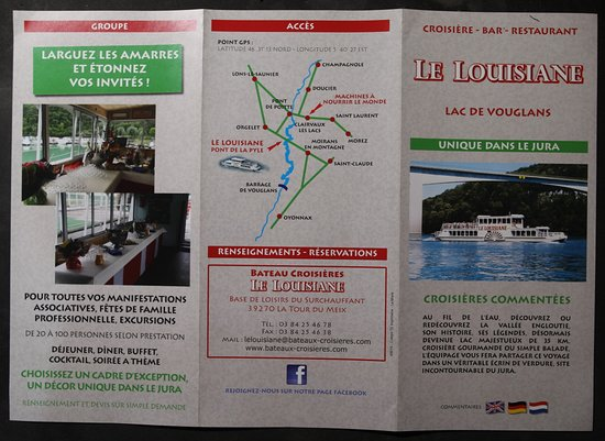 La Tour-du-Meix, فرنسا: Le flyer : Le Louisiane