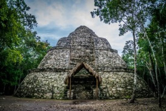 Koox Diving: Nohoch Mul pyramid in Coba - one of oldest Mayan Pyramids