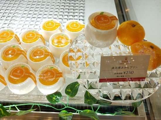 Tivoli Yugawara Sweets Factory: 懐かしい味の湯河原みかんプリン