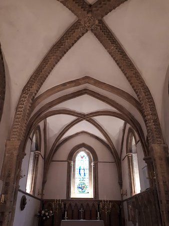 Church of St Mary the Virgin: inside St Marys at Iffley