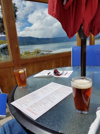 Cascade, ID: Enjoying a Brewski watching the weather roll in Over the Lake
