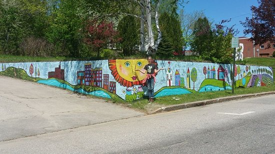 Berlin, NH: Assemble Studios mural & Art Park.  Mural painted by artist Deidre Noreen