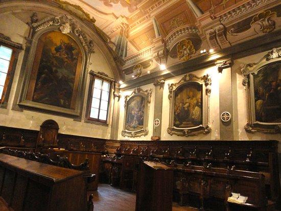 Vallombrosa, Olaszország: IL QUATTROCENTESCO CORO LIGNEO ABBAZIALE